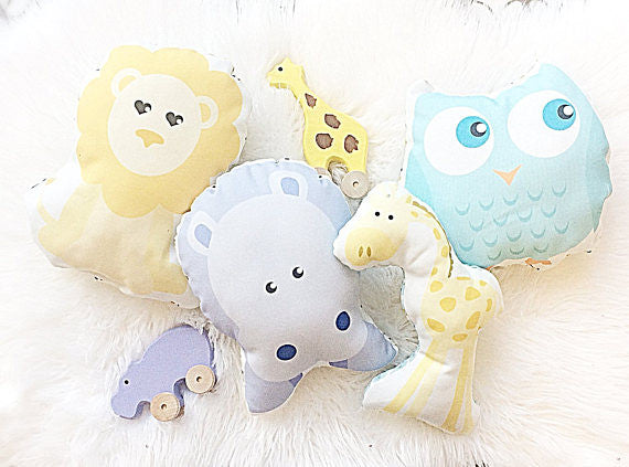 Organic Plush Rattle Pillow