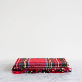 Royal Stewart Cotton Fringed Throw