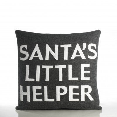 """Santa's Little Helper"" Pillow -16"" X 16"""
