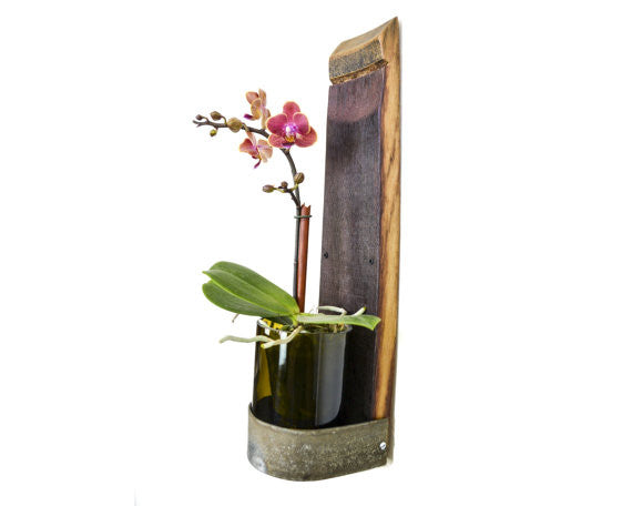 Wine Barrel Vase Shelf