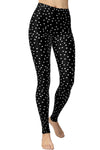 Printed Brushed Leggings - Polka Dot Frenzy