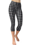 Printed Capris Leggings - Houndstooth