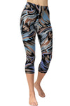 Printed Capris Leggings - Paintbrushed