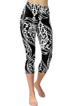 Printed Capris Leggings - Heartarium