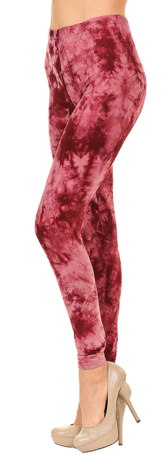 Tie Dye Leggings - Heart Broken - VIV Collection