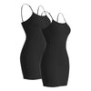 Plain Basic Cami Cotton Tank Top 2-Pack - Many Colors