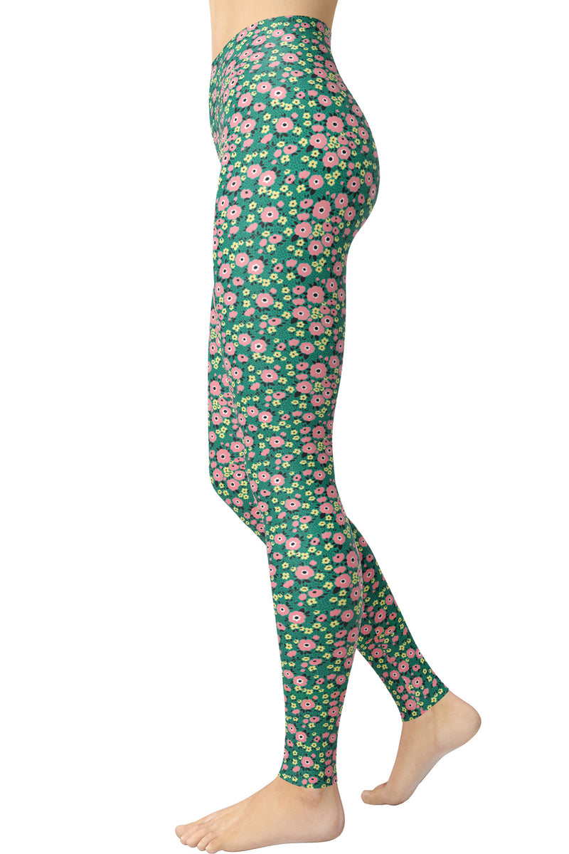 Printed Brushed Leggings - Dandelion Heaven