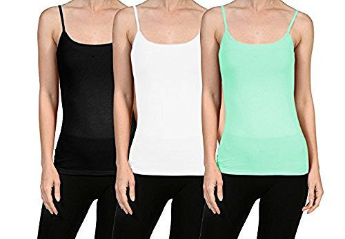Plain Short Basic Cami Cotton Tank Top - VIV Collection