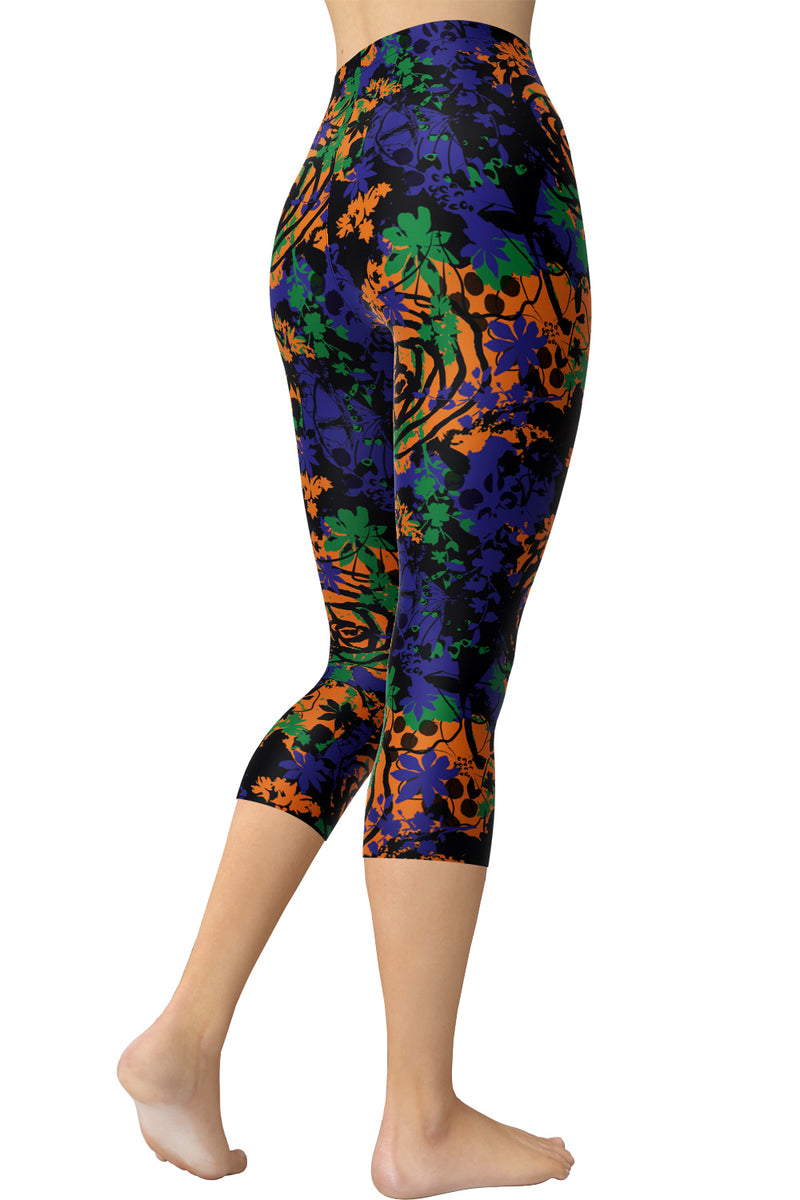 Printed Capris Leggings - Bengal Splash