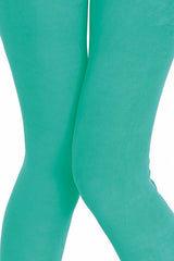 Solid Brushed Leggings VP103-Dark Mint - VIV Collection