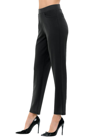 Women's Straight Fit Trouser Ankle Pants