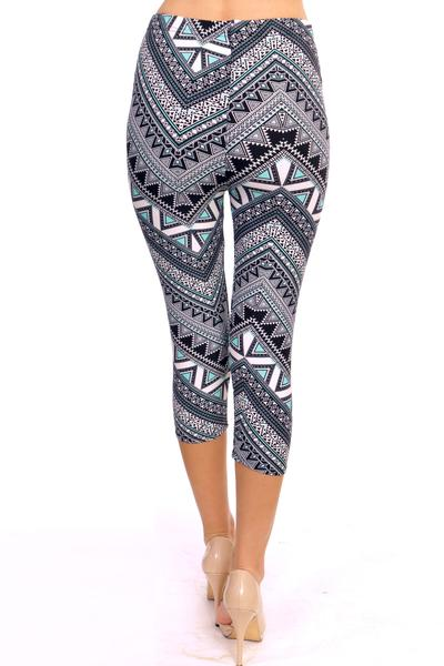 Printed Capris Leggings - Peridot