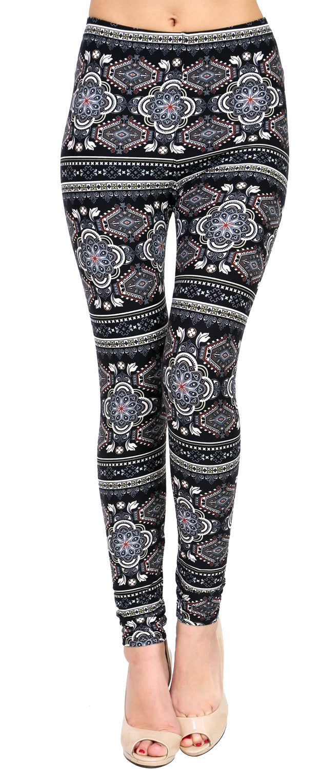 Printed Brushed Leggings - Perflection