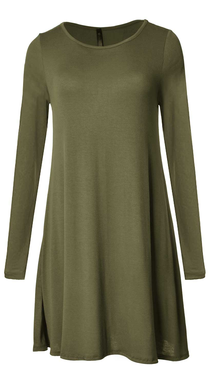 Long Sleeve Flare Hem Tunic Top