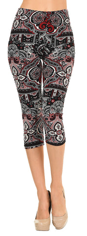 Printed Capris Leggings - Ancient Shields - VIV Collection