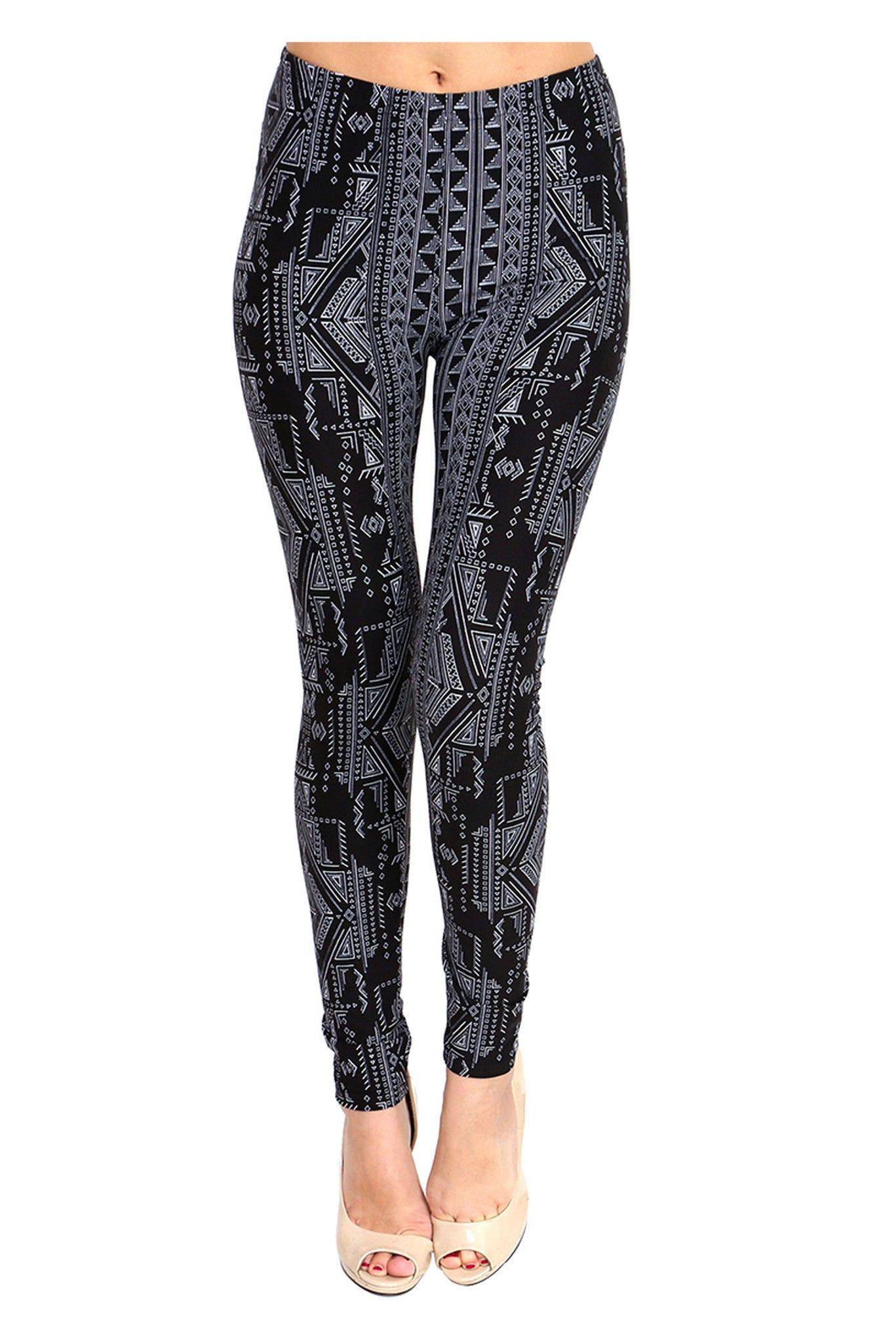 VEN173 Snow Forest Printed Palazzo Pants
