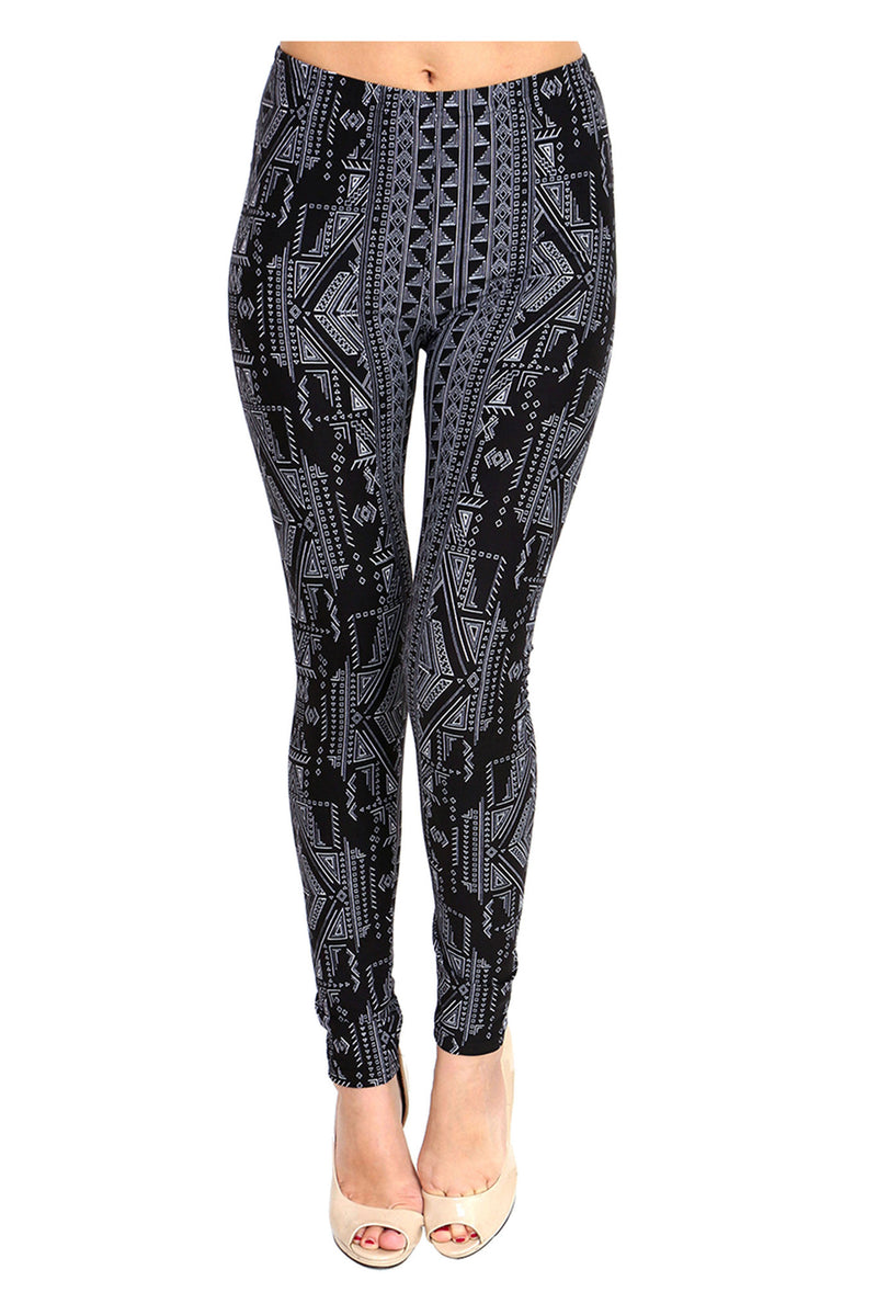 Printed Brushed Leggings - Atarian - VIV Collection