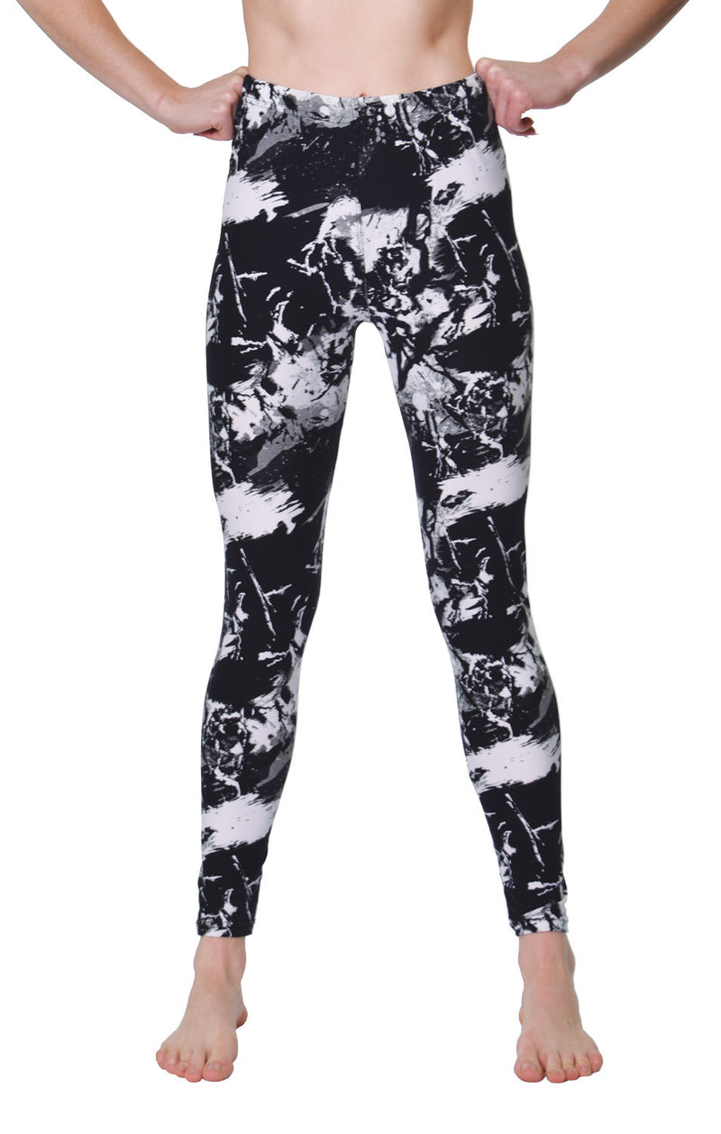 Printed Brushed Leggings - Paint Rebellion - VIV Collection