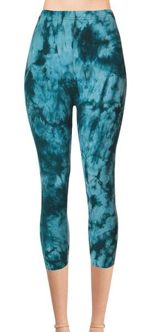 Printed Capris Leggings (Digital Print) - Unconscious Waves