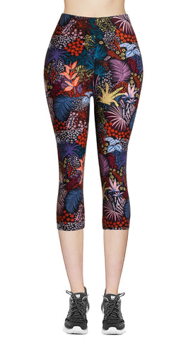Printed Brushed Leggings - Chromatic Splash