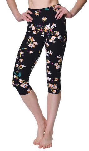 Printed Capris Leggings - Freedom Bird