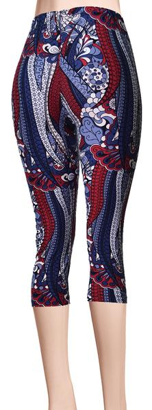 Printed Capris Leggings - Cloudy Dreams