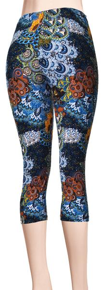 Printed Capris Leggings - Breezy Uprising