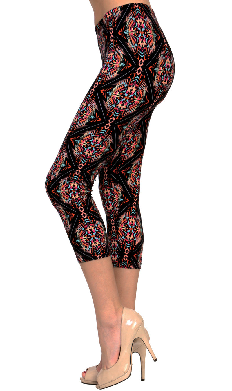 Printed Brushed Leggings - Shockify - VIV Collection