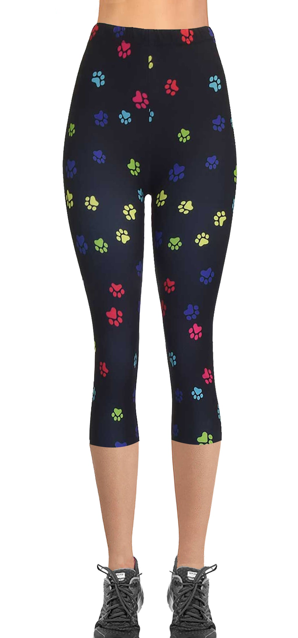 Printed Capris Leggings - Paws