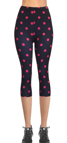 Printed Capris Leggings (Digital Print) - Heat Stroke