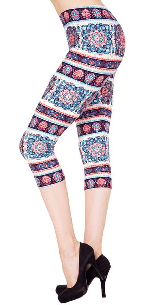 Printed Capris Leggings - Nobility