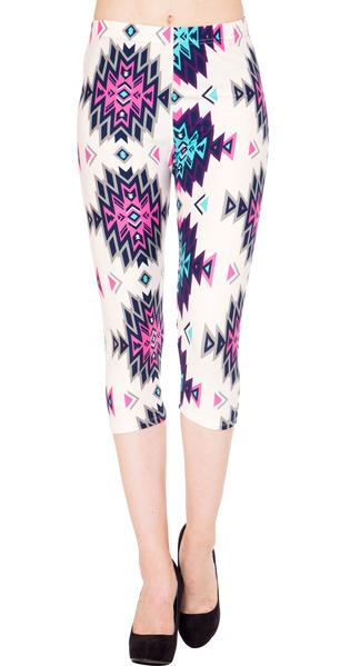 Printed Capris Leggings - Arrowish