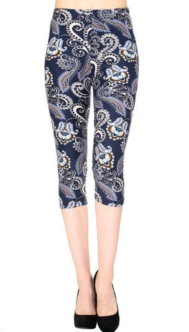 Printed Capris Leggings - Razor Edge