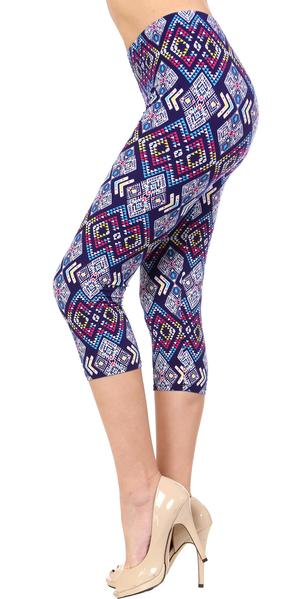 Printed Capris Leggings - Diamond Mine