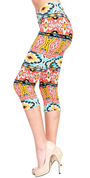 Printed Capris Leggings - Summer Shine