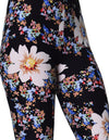 Printed Brushed Leggings - Flower Burst