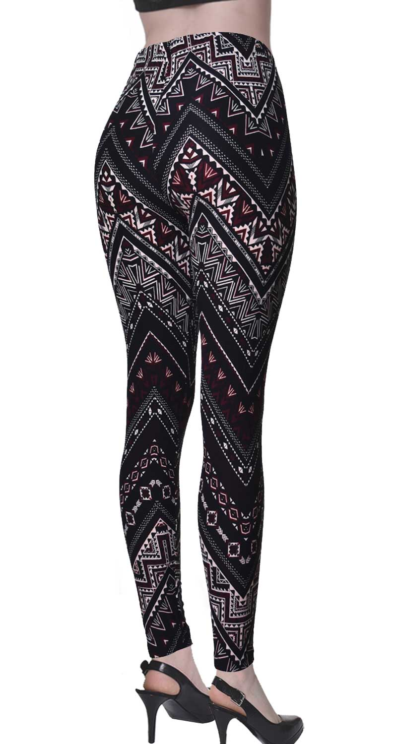 Printed Brushed Leggings - Shadowed Daggers