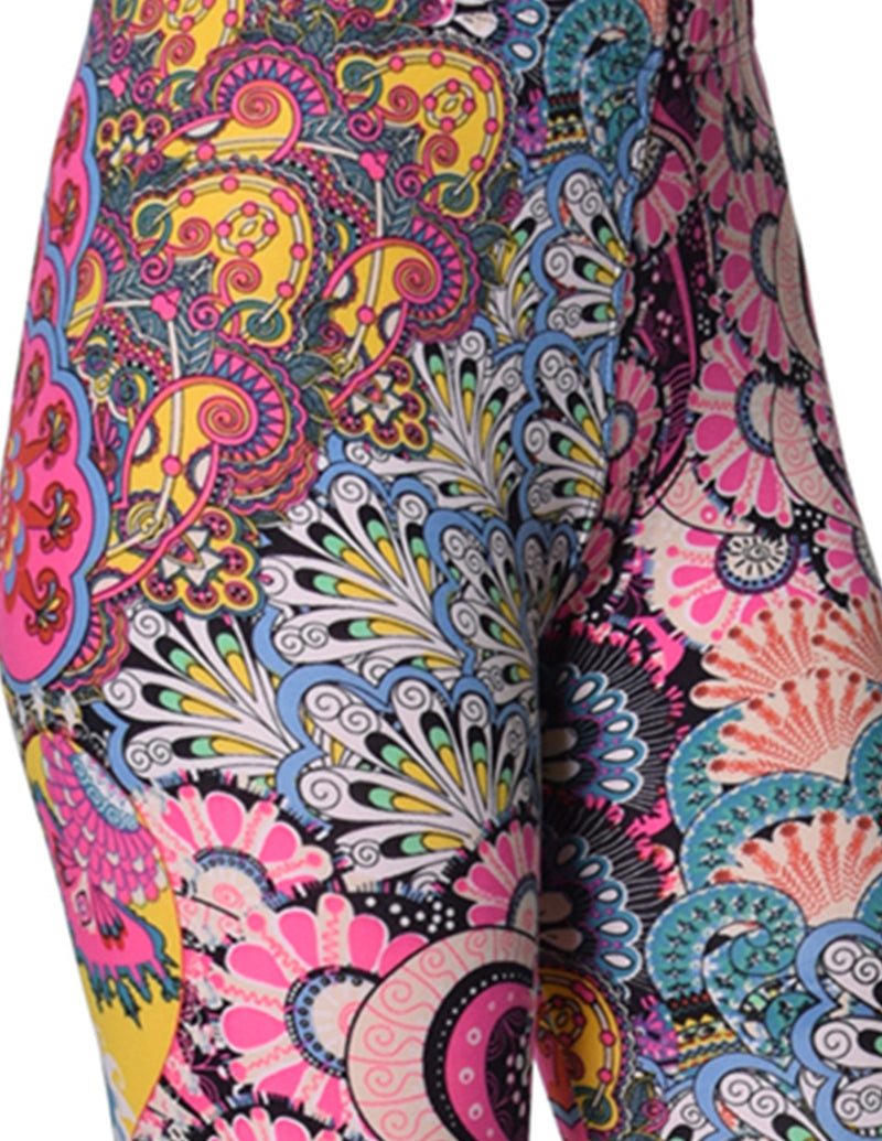 Printed Brushed Leggings - Dreamy Uprising