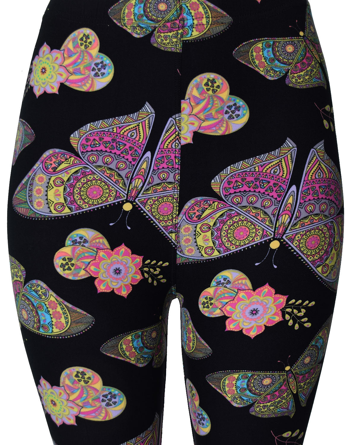 Printed Brushed Leggings - Butterfly Knight