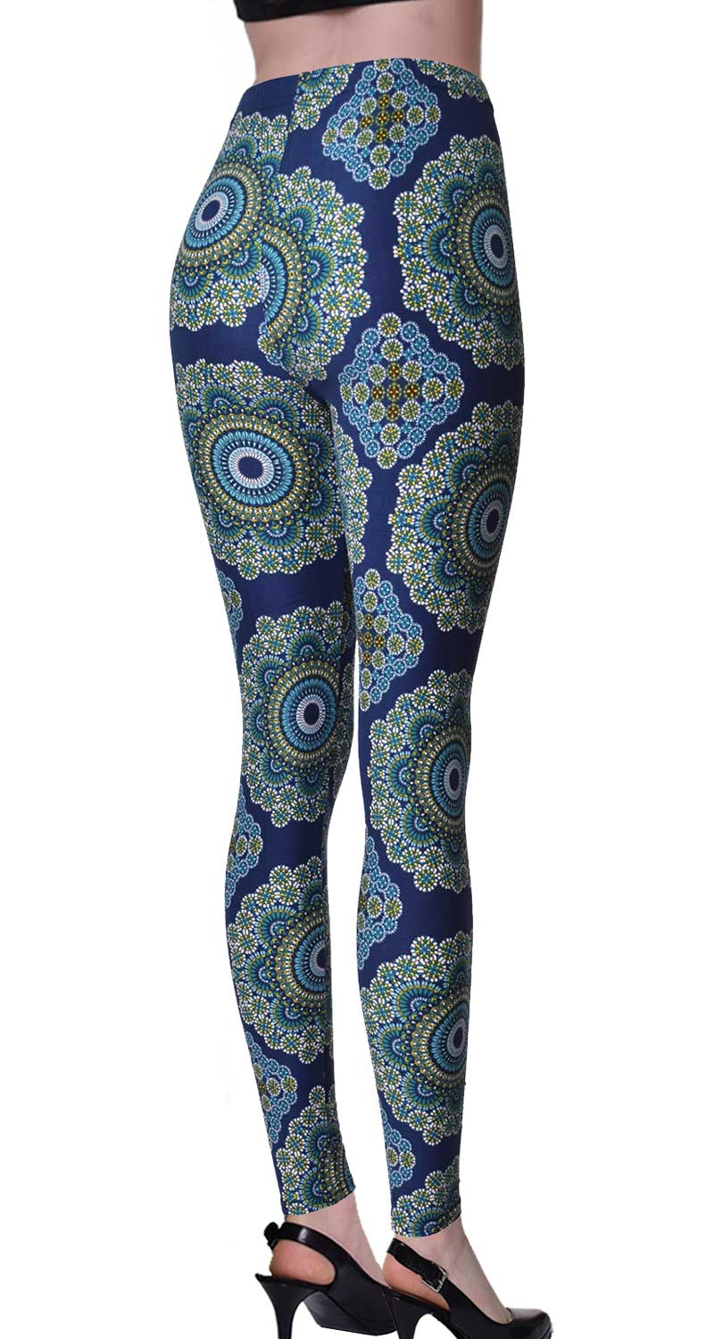 Printed Brushed Leggings - Floral Gathering