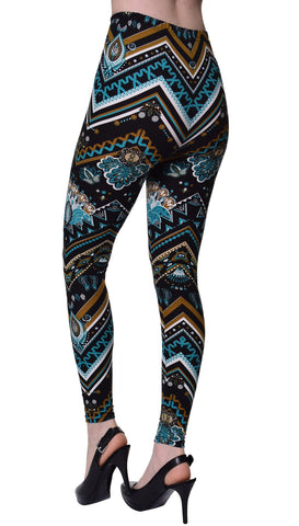 Solid Brushed Leggings VP103-Teal Green