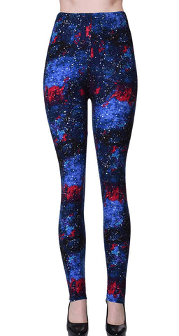 Printed Brushed Leggings - Sunderian
