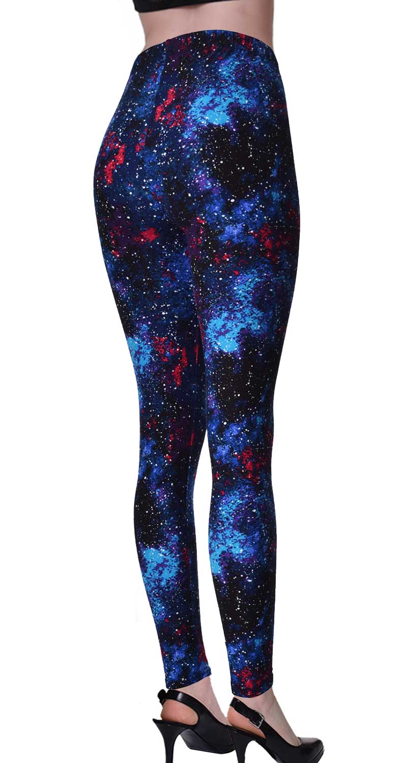 Printed Brushed Leggings - Foreign Galaxy