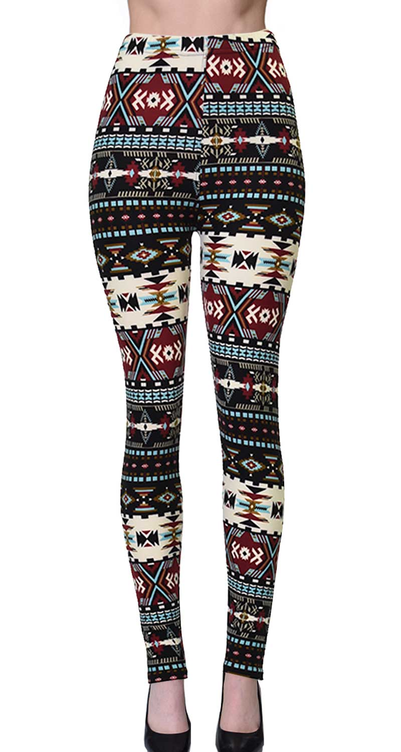 Printed Brushed Leggings - Game Pattern