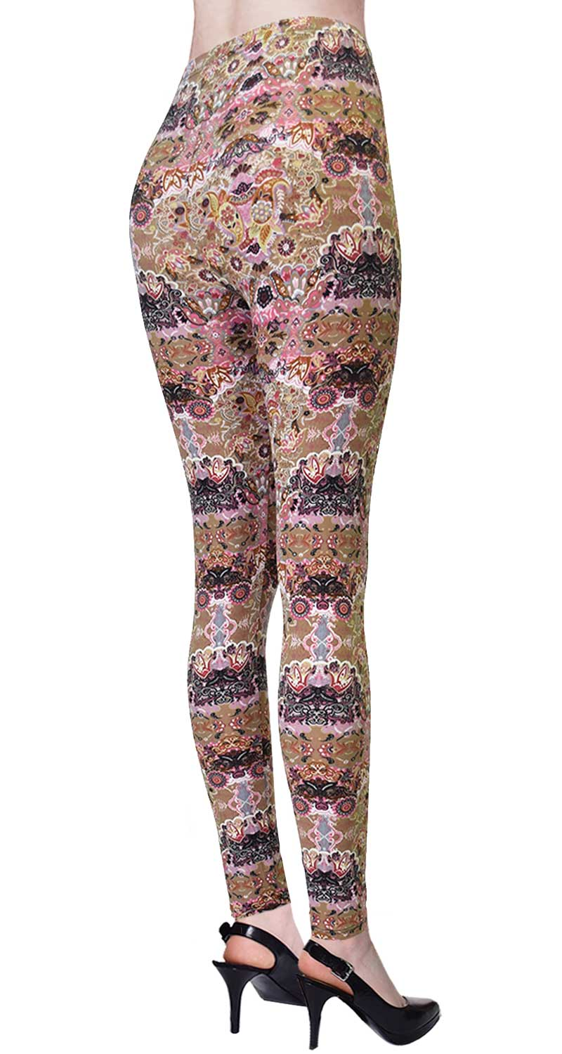 Printed Brushed Leggings - Hive Party