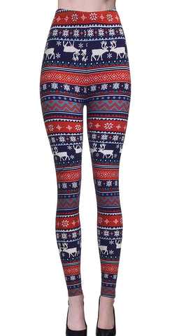 Printed Brushed Leggings - Build A Snowman (Digital Print)