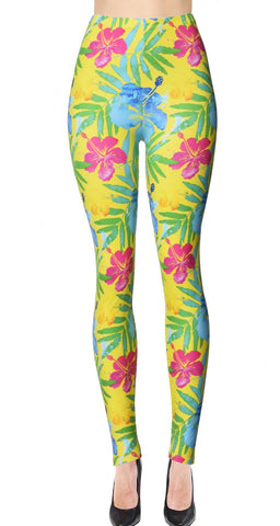 Printed Brushed Leggings - Dark Pineapple (Digital Print)