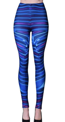 Printed Brushed Leggings - Dust Explosion