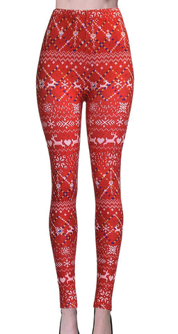 Printed Capris Leggings - Checkered
