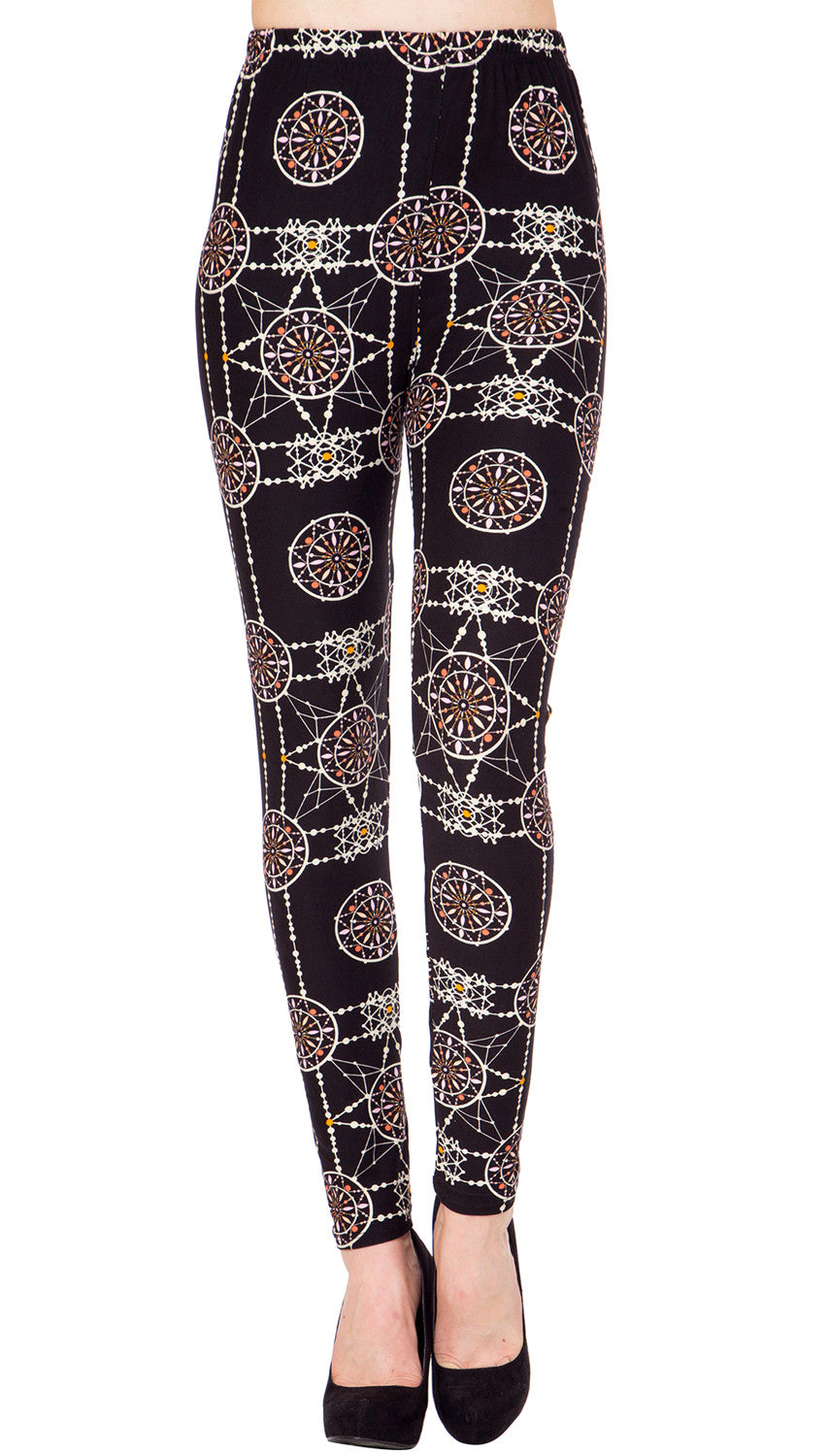 Printed Brushed Leggings - Sunometry